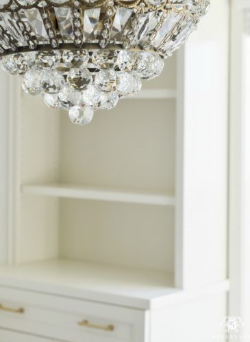 One Room Challenge- Week 3: A Crystal Chandelier for the Office