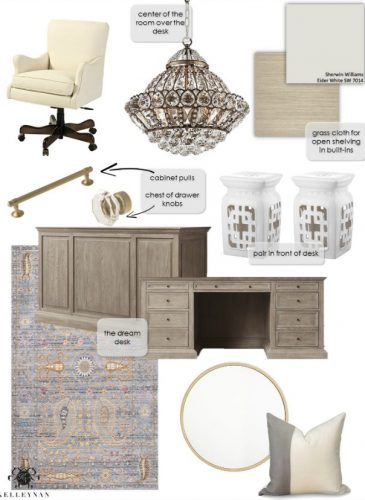 One Room Challenge- Home Office Makeover: Week 1