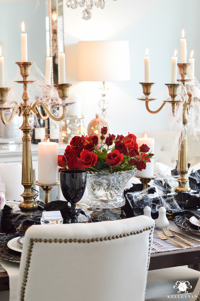 Halloween Dinner Party Ideas.Gothic Dinner Party For Halloween Kelley Nan