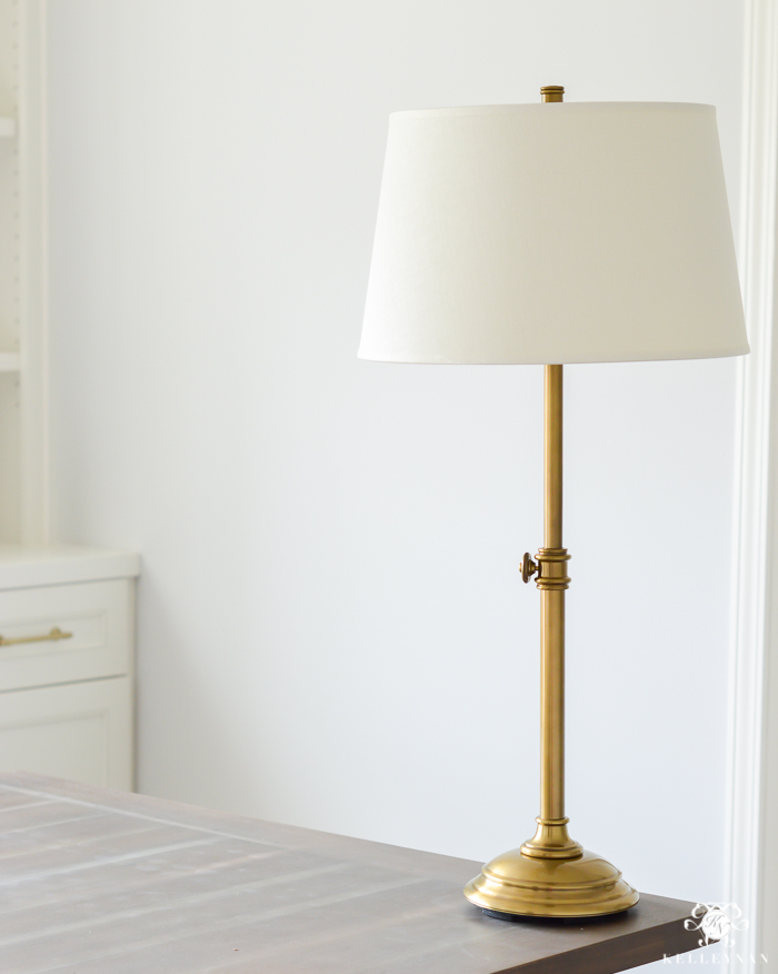 pottery-barn-brass-table-lamp-in-office