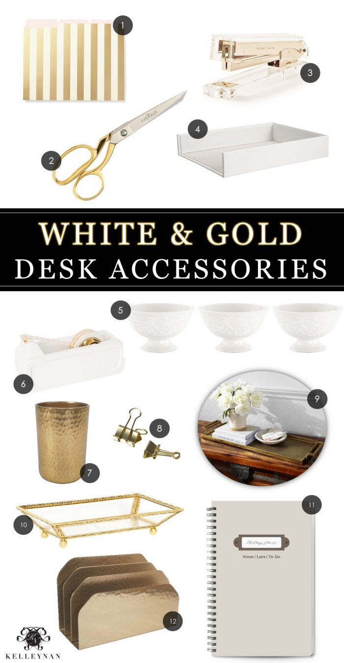 white-and-gold-office-accessories-for-office-makeover