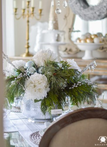 Simple, Intimate, Ice Blue Christmas Table