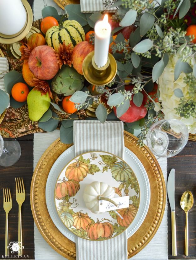 A traditional thanksgiving table with pottery barn for Pottery barn thanksgiving