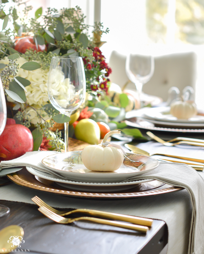 gold-pottery-barn-thanksgiving-table-with-veggies-and- & A Traditional Thanksgiving Table with Pottery Barn - Kelley Nan