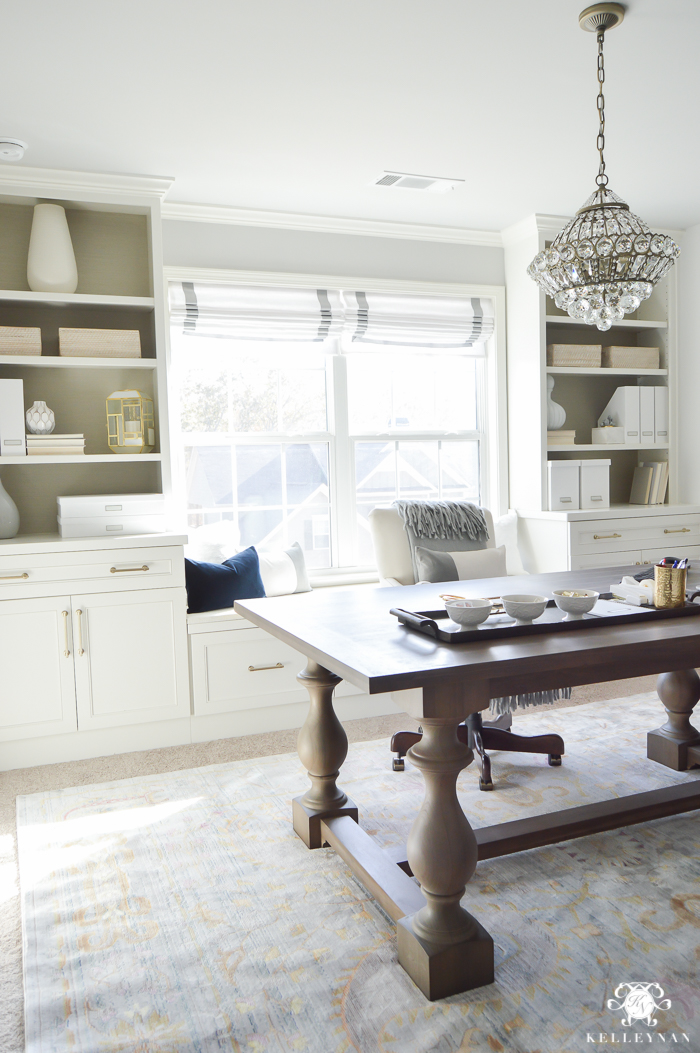 Home Office With Ballard Designs Furnishings Benjamin: One Room Challenge- Home Office Makeover Reveal
