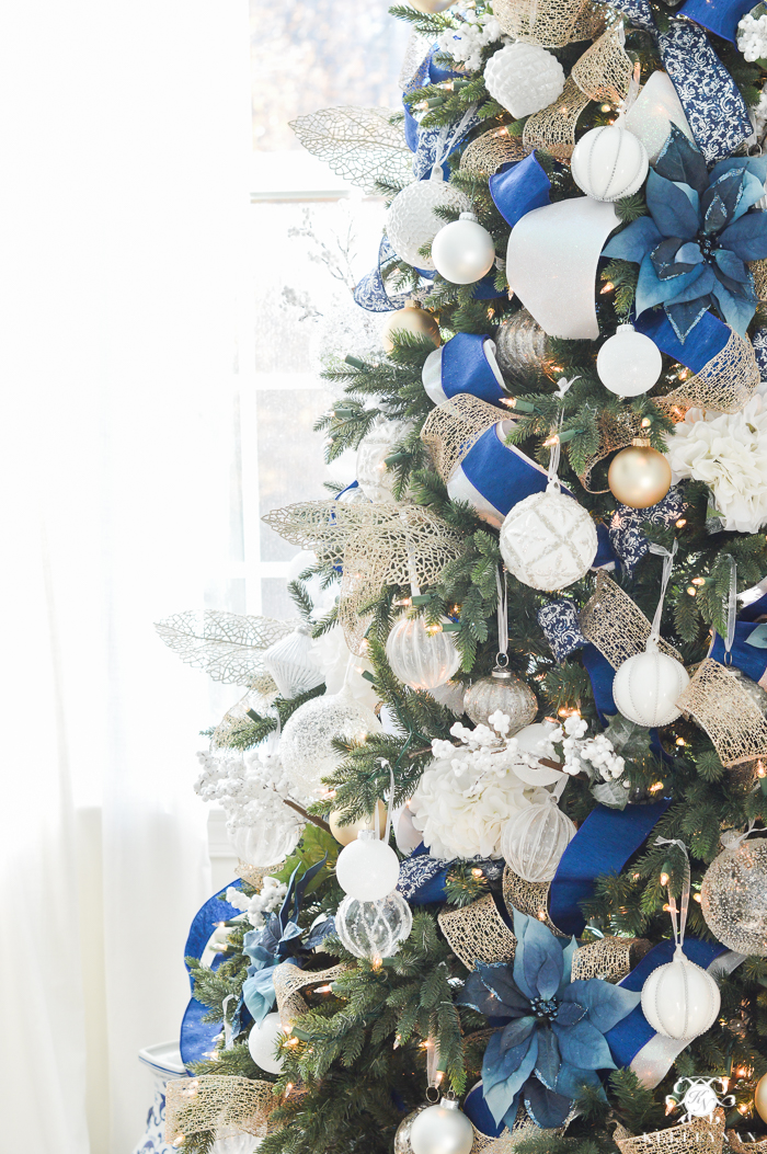 blue and white christmas tree ideas - Blue And White Christmas Decorations