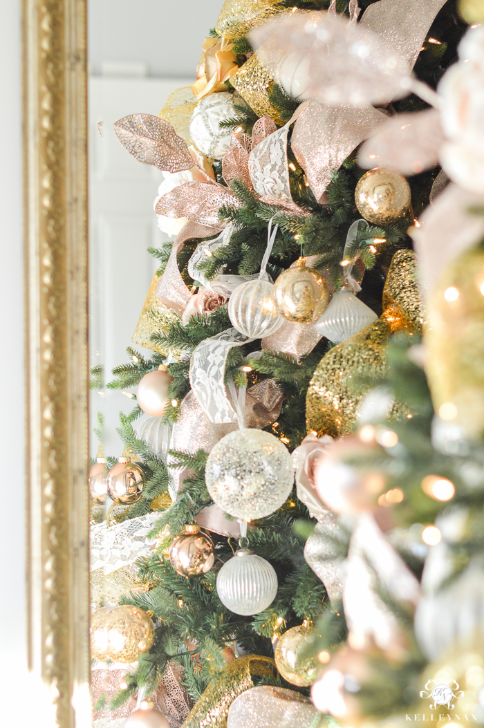 blush-christmas-tree-in-front-of-mirror