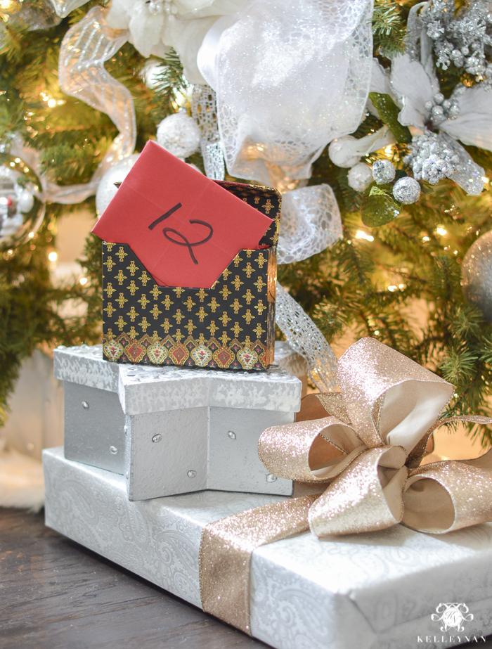 christmas tradition ideas 12 days of christmas box