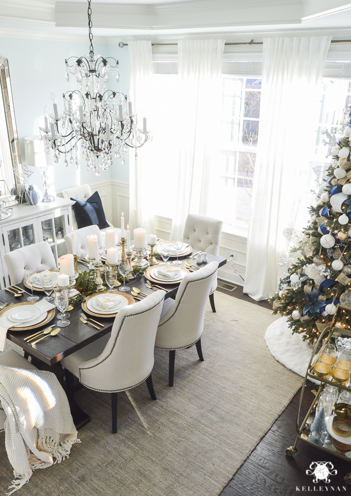 elegant-christmas-dining-room-with-christmas-dinner-idea-pecan-crusted-stuffed-chicken-10-of-20