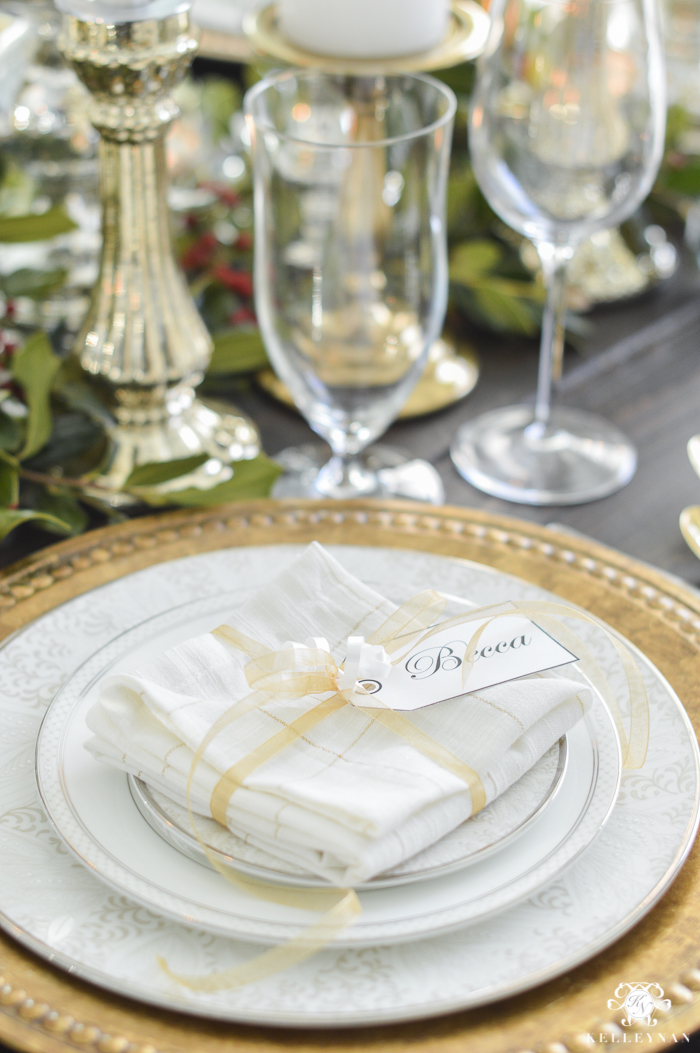 elegant-christmas-dining-room-with-christmas-dinner-idea-pecan-crusted-stuffed-chicken-2-of-20