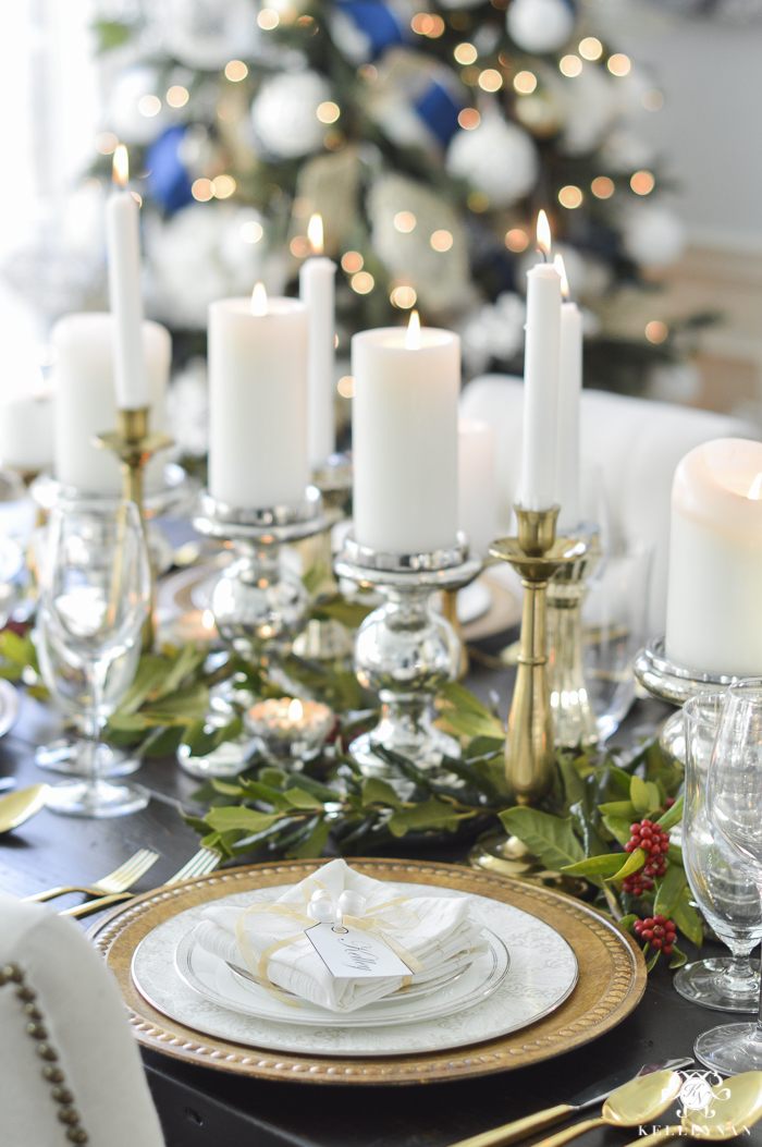 elegant-christmas-dining-room-with-christmas-dinner-idea-pecan-crusted-stuffed-chicken-4-of-20