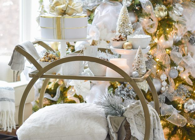 Week of Christmas Celebrations, Holiday Traditions, and a Cozy Styled Bar Cart