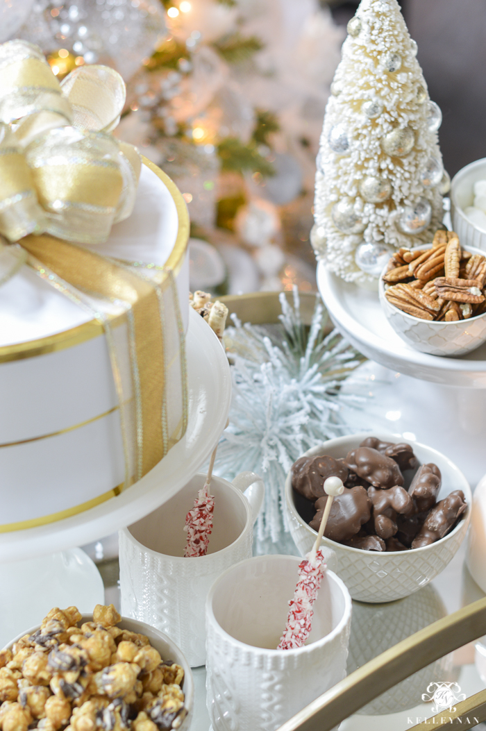 gold-bar-cart-with-christmas-snacks
