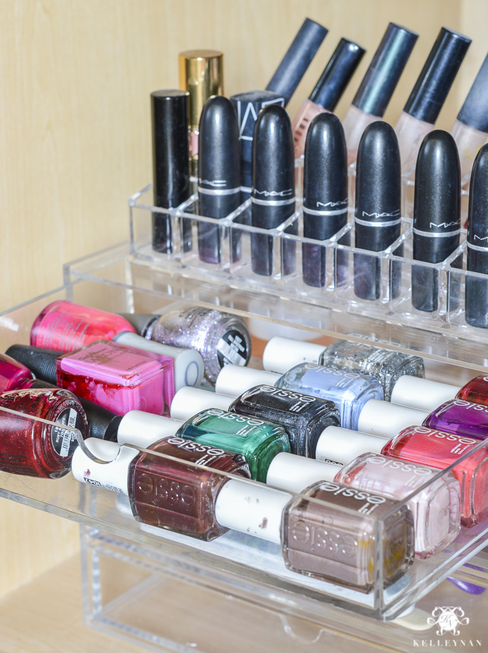 I Re Purposed One Of My Acrylic Drawer Sets For Nail Polishes And Toou2026  There Is Still A Little Extra Space To Grow. First, I Washed All The  Plastic Drawers ...