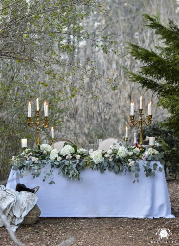 Romantic Outdoor Sweetheart Table