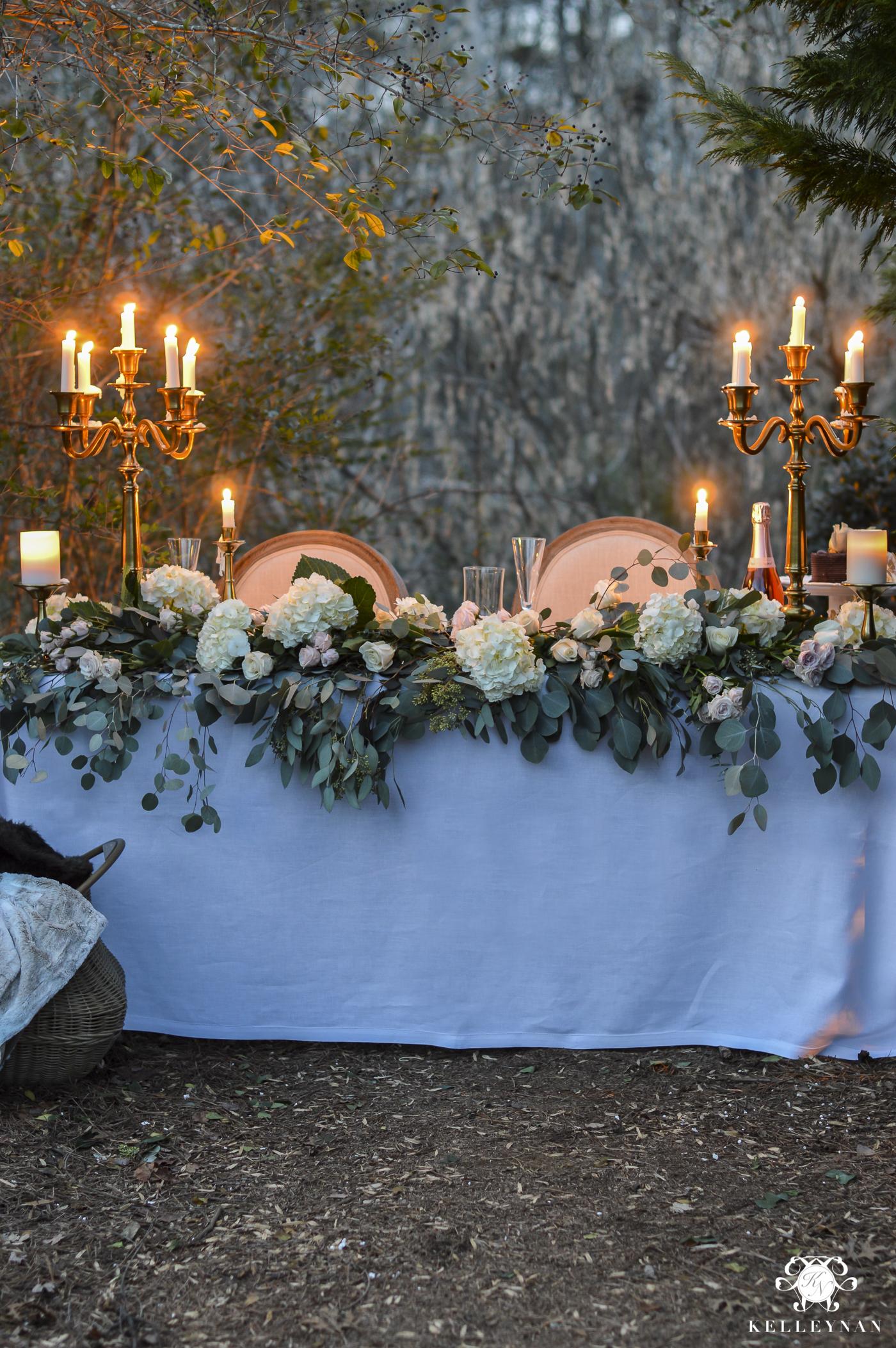 Romantic Outdoor Sweetheart Table Kelley Nan