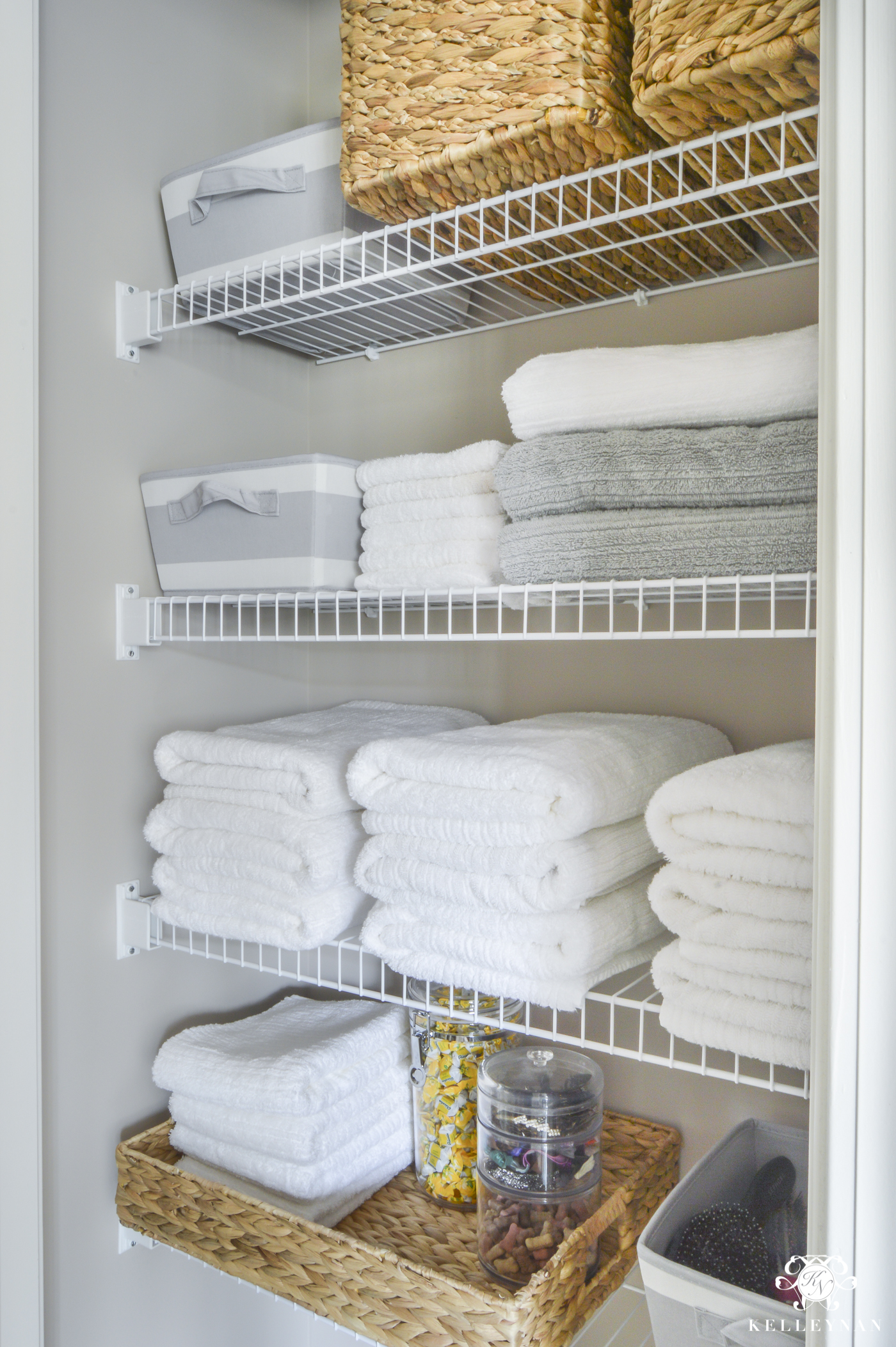 Organized Bathroom Linen Closet Anyone Can Have Kelley Nan - Bathroom closet organization ideas