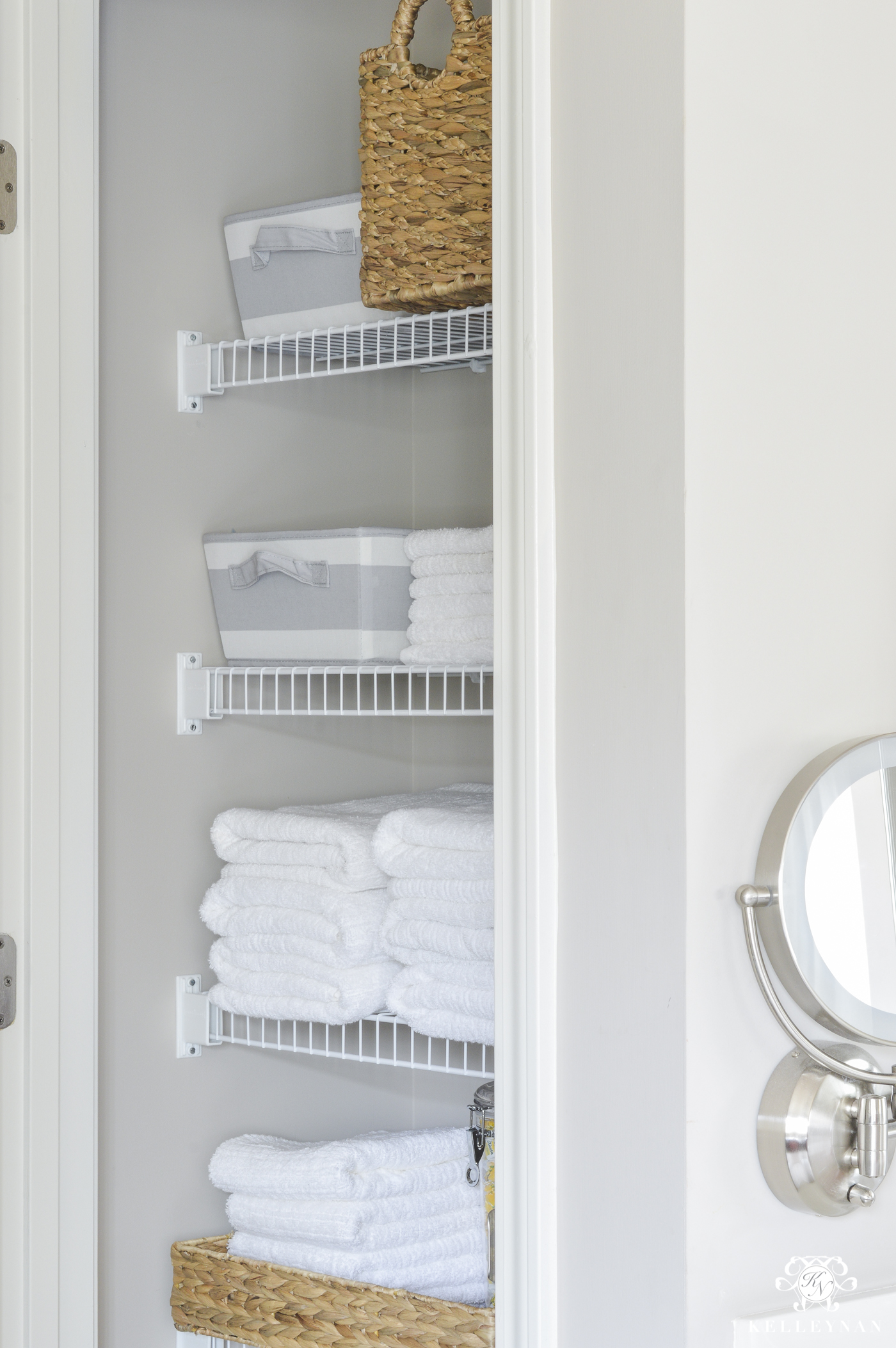 Pleasing Organized Bathroom Linen Closet Anyone Can Have Kelley Nan Download Free Architecture Designs Embacsunscenecom