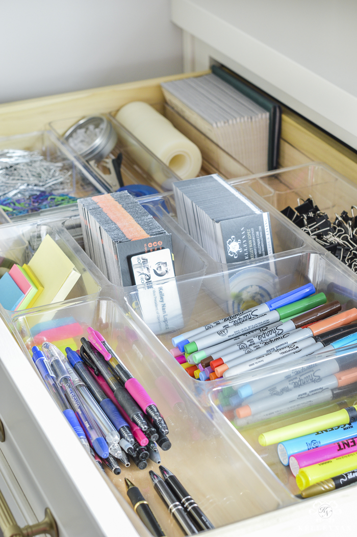 Organized And Functional Office Supply Drawers Kelley Nan