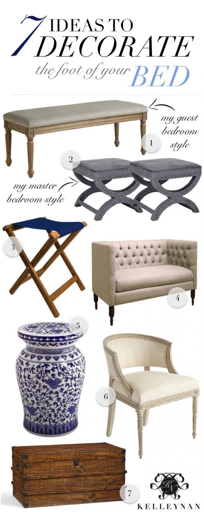 Foot Of The Bed seven ideas to decorate the foot of your bed | kelley nan