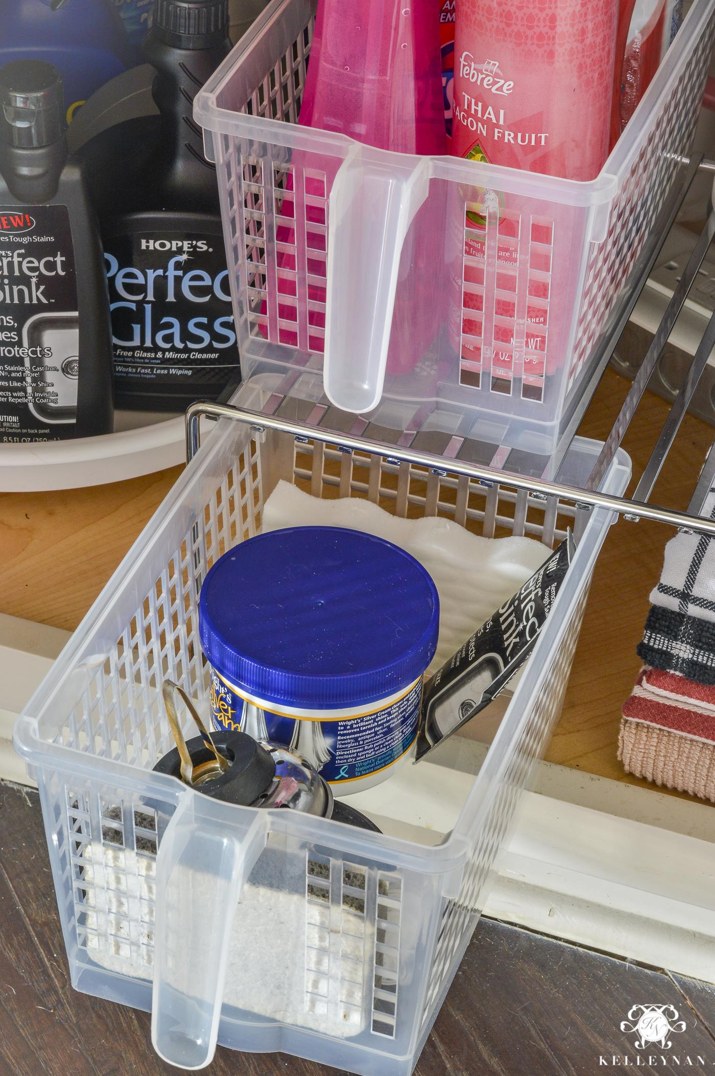 organization for under the kitchen sink kelley nan