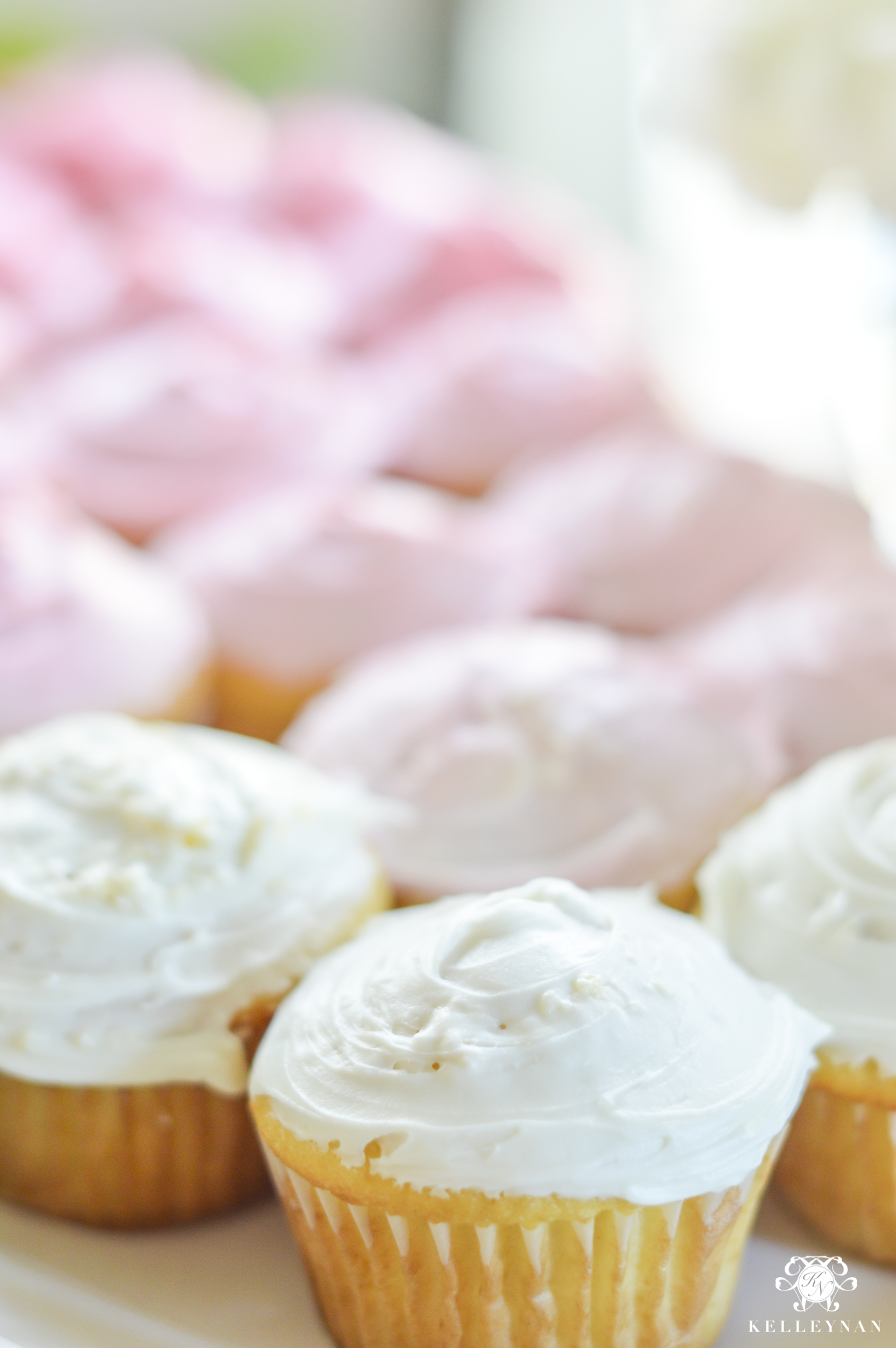 Simple Ombre Cupcakes with Canned Frosting - Kelley Nan