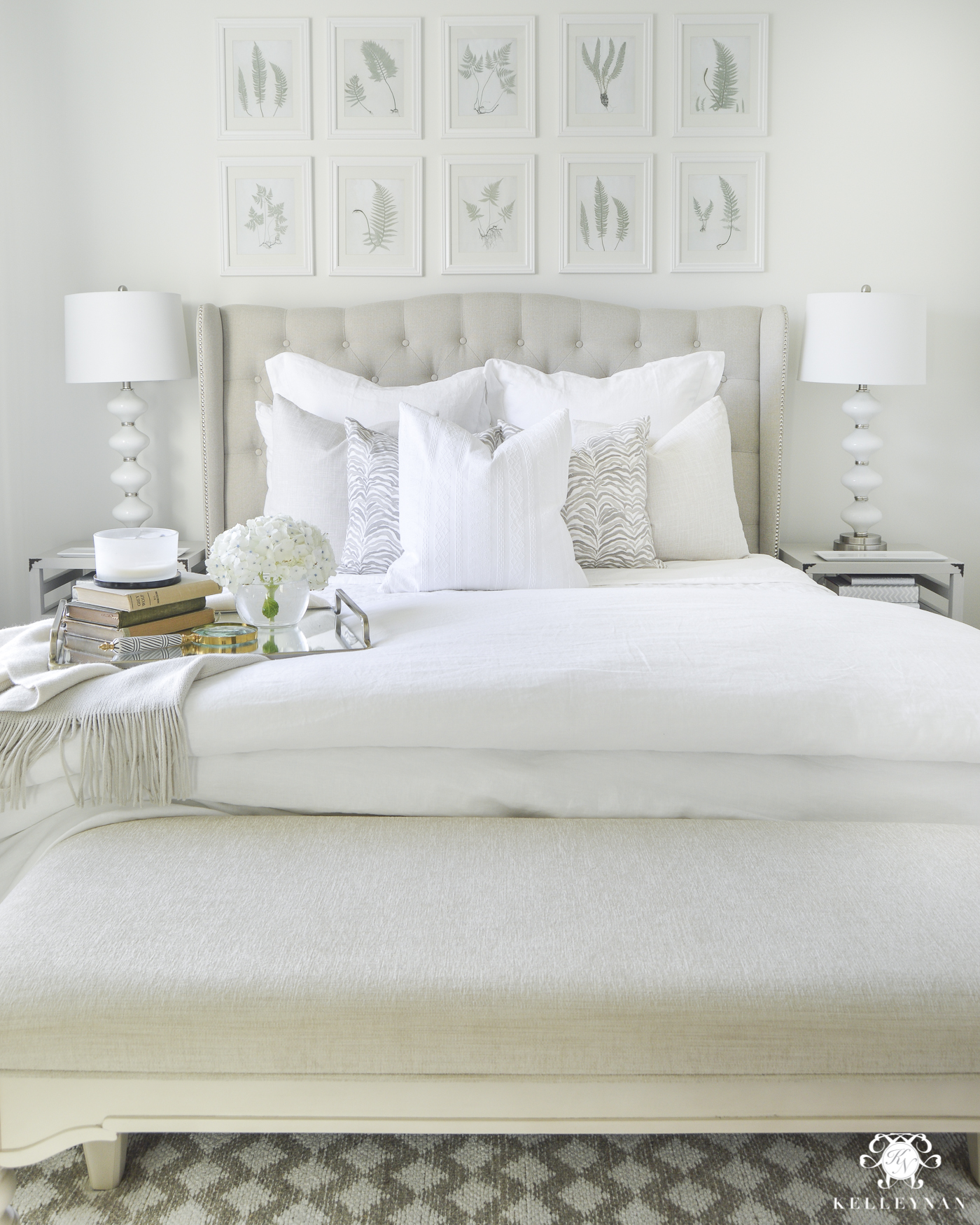 White Guest Bedroom With Pottery Barn Bedding And Linen Quilt  Guest Bedroom  Decor Ideas (21 Of 2)