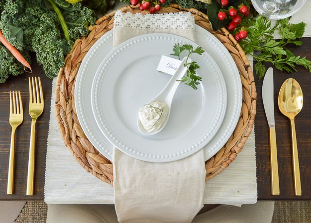 Vegetable Patch Easter Table