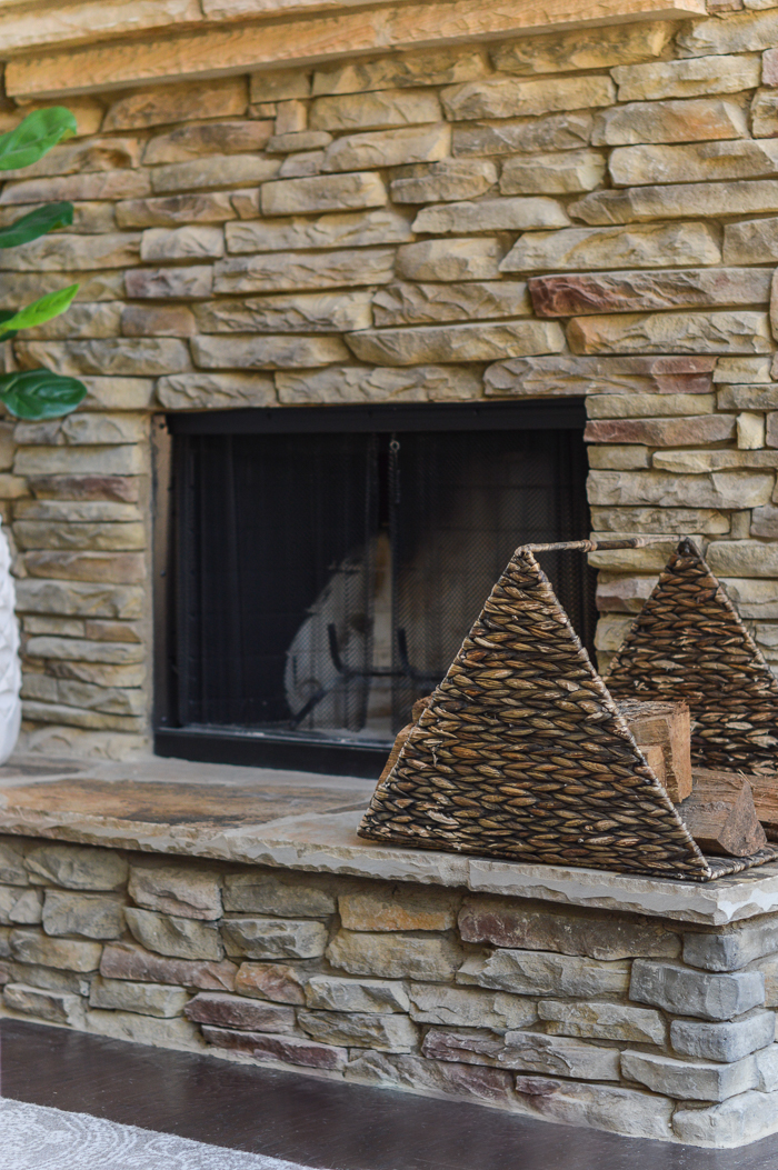 Fireplace hearth fire wood basket holder