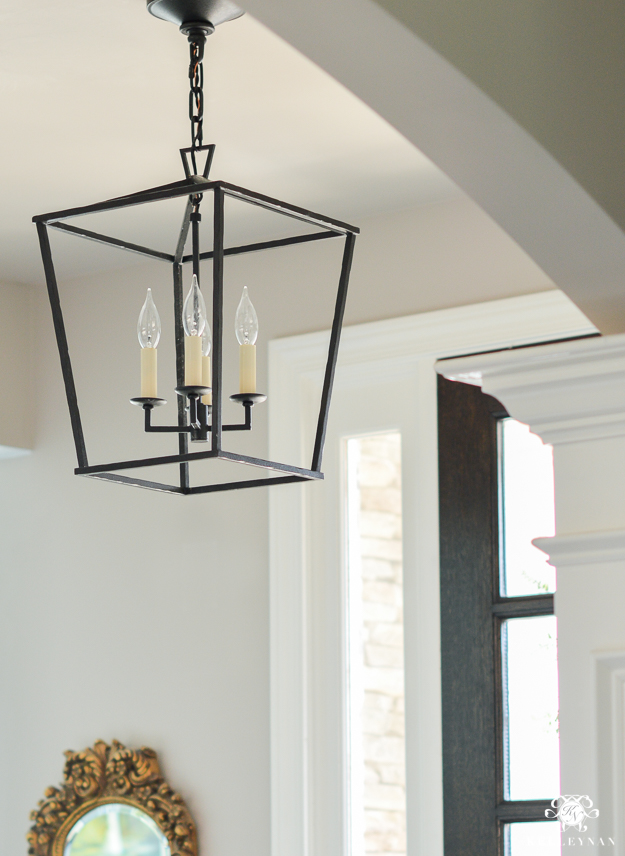 Small Foyer Lanterns : Updated foyer lighting before and after the darlana