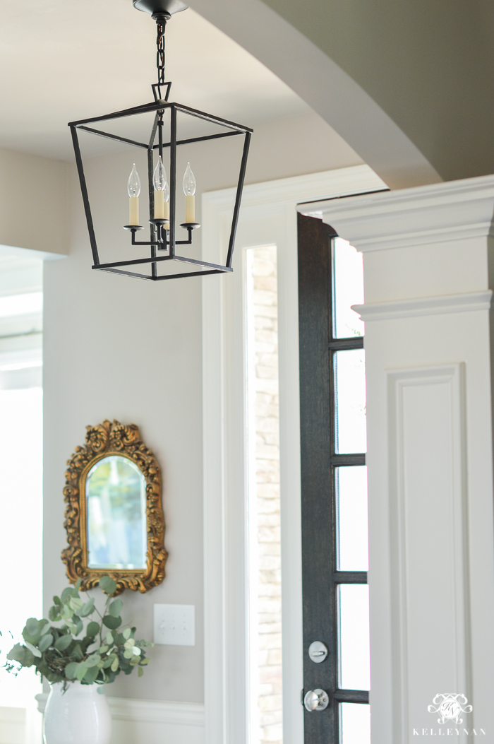 Foyer Lighting Lantern : Updated foyer lighting before and after the darlana