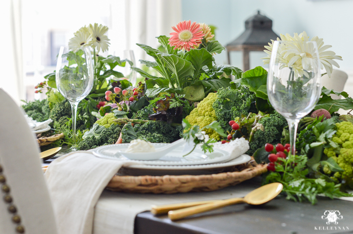 Vegetable Easter Table with gerbera daisies(7 of 16)