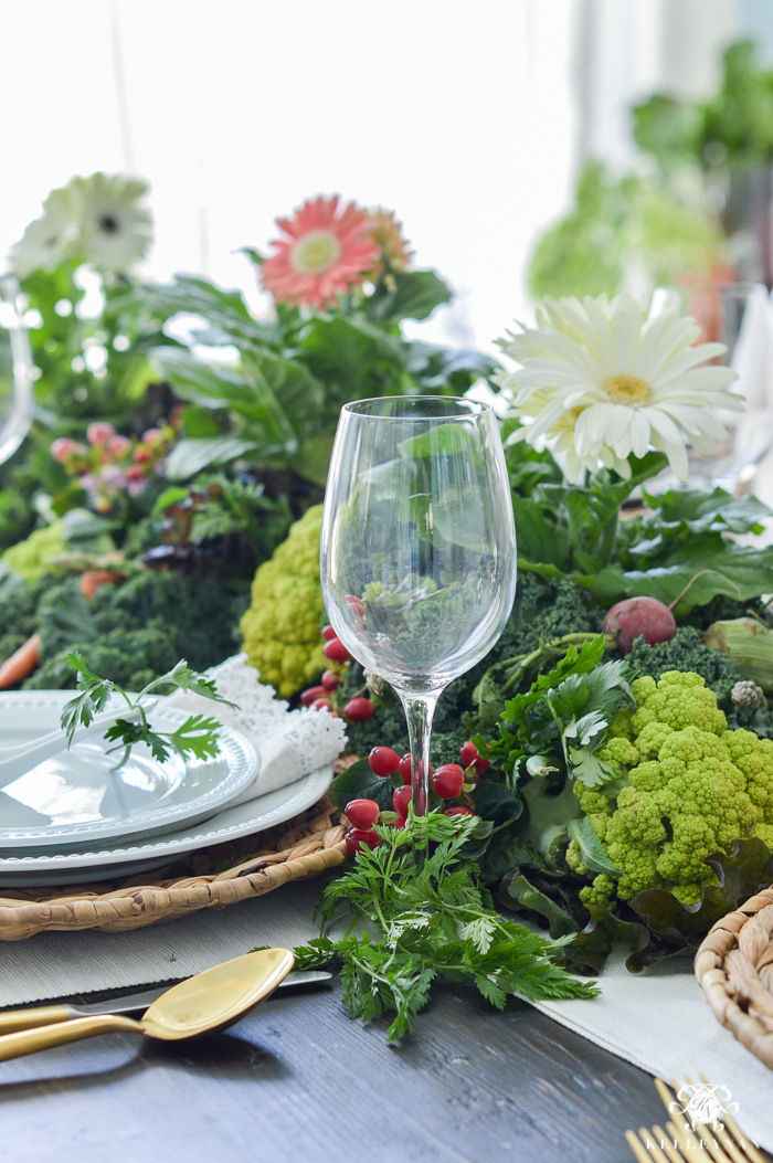 Vegetable Table Centerpiece