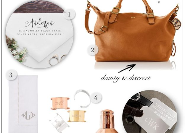 Two Rules Before You Monogram and Personalize