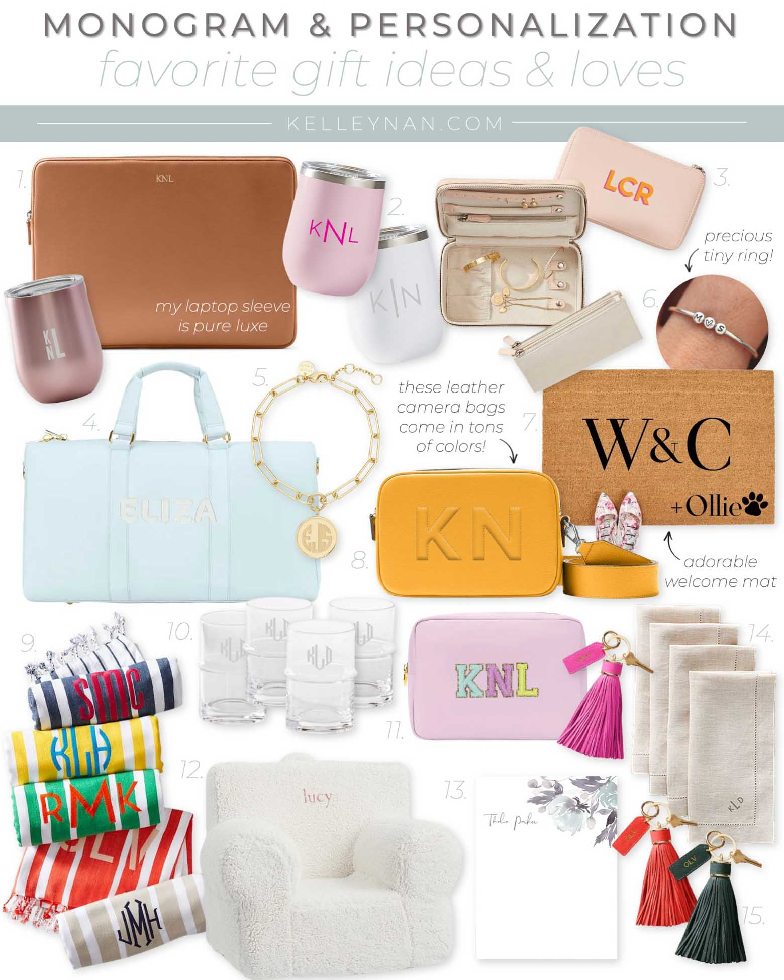 Favorite Monogram Gifts and Personalized Gifts