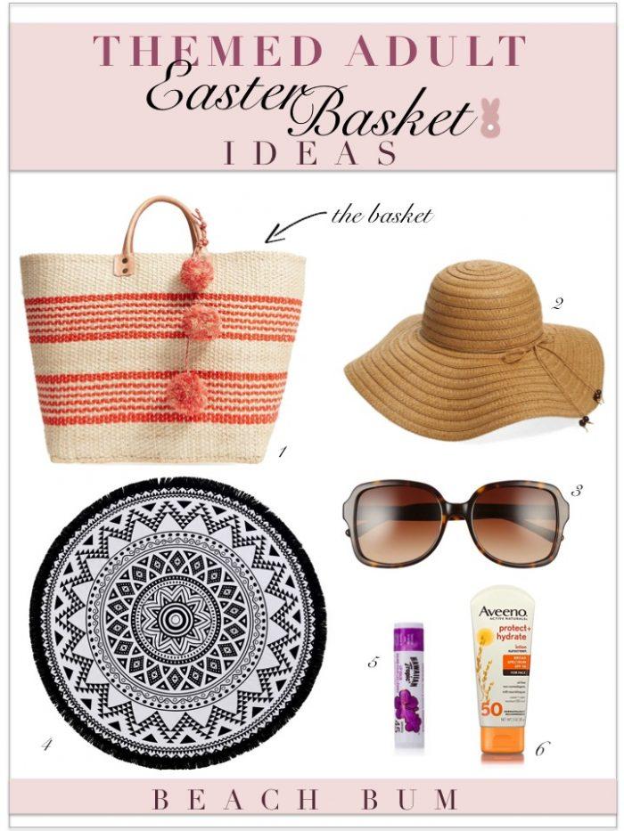 Themed adult easter basket ideas kelley nan adult easter basket ideas beach bag essentials negle Gallery