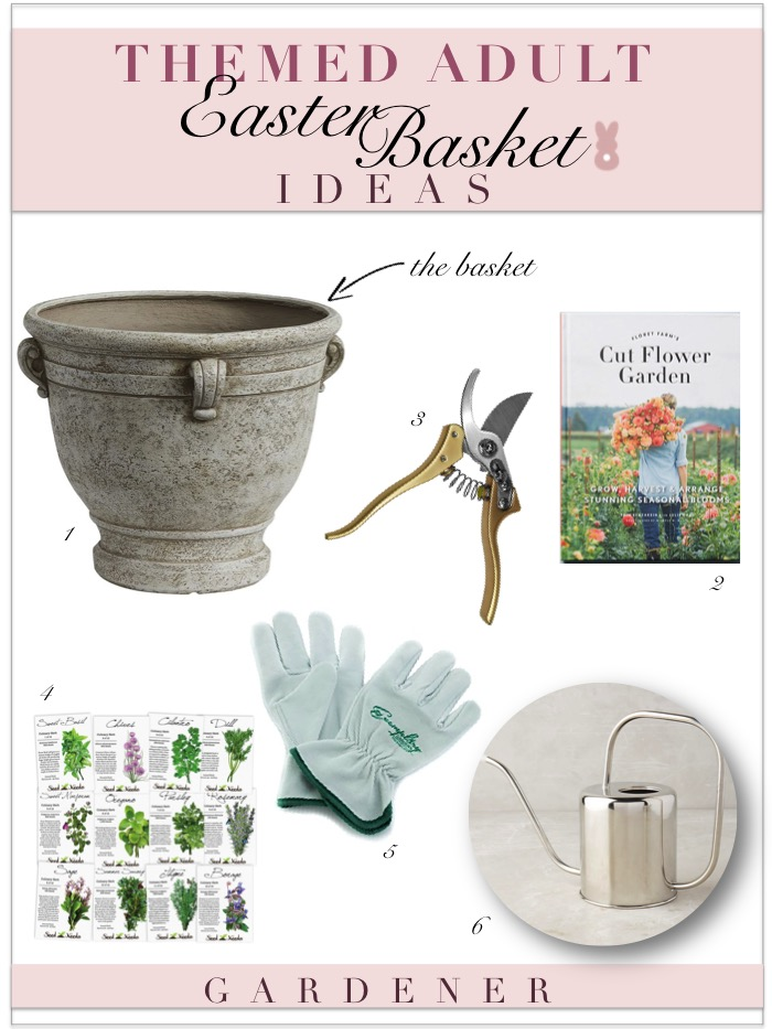 Themed adult easter basket ideas kelley nan adult easter basket ideas gardener gifts negle Image collections