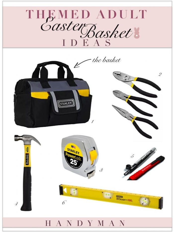 Adult Easter Basket Ideas- Tool Bag with Tools