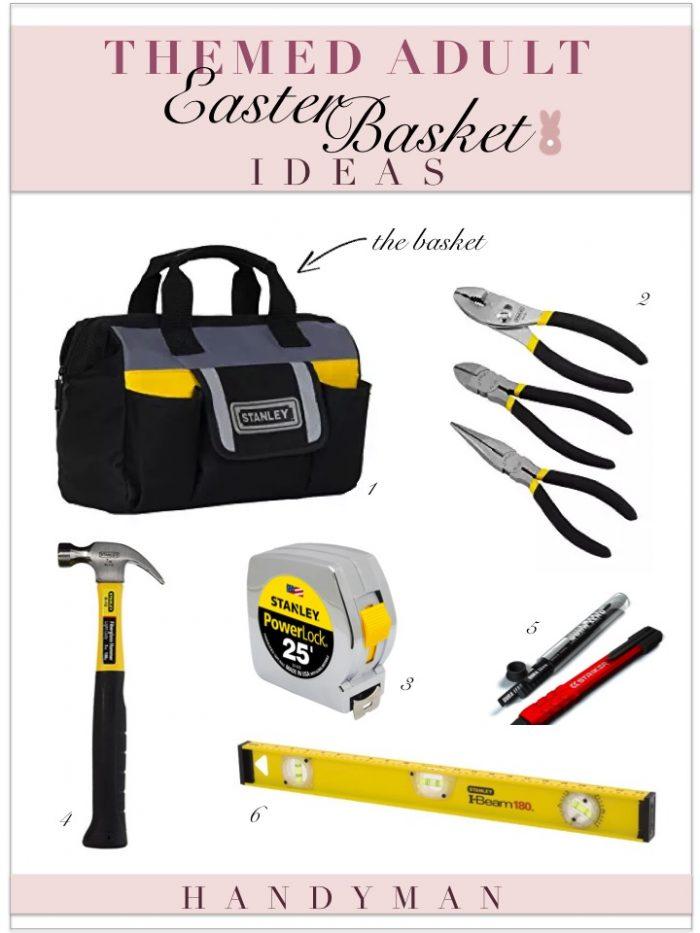 Themed adult easter basket ideas kelley nan adult easter basket ideas tool bag with tools negle Images