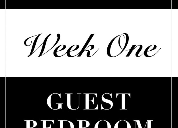 One Room Challenge- Week 1: Guest Bedroom Makeover