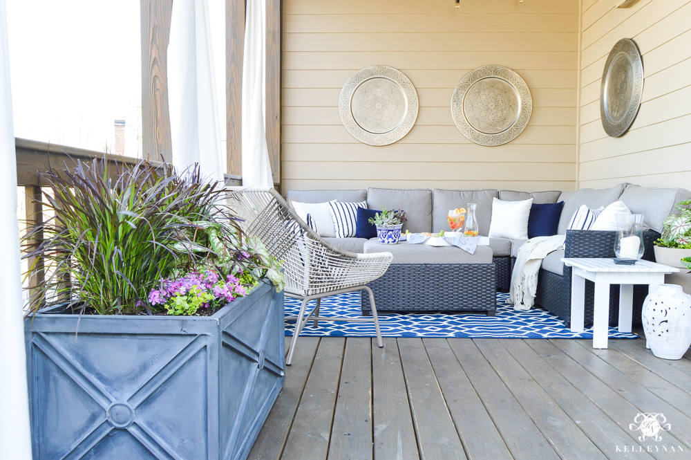 A porch makeover and a relaxing date night on the deck - Covered outdoor living spaces ...
