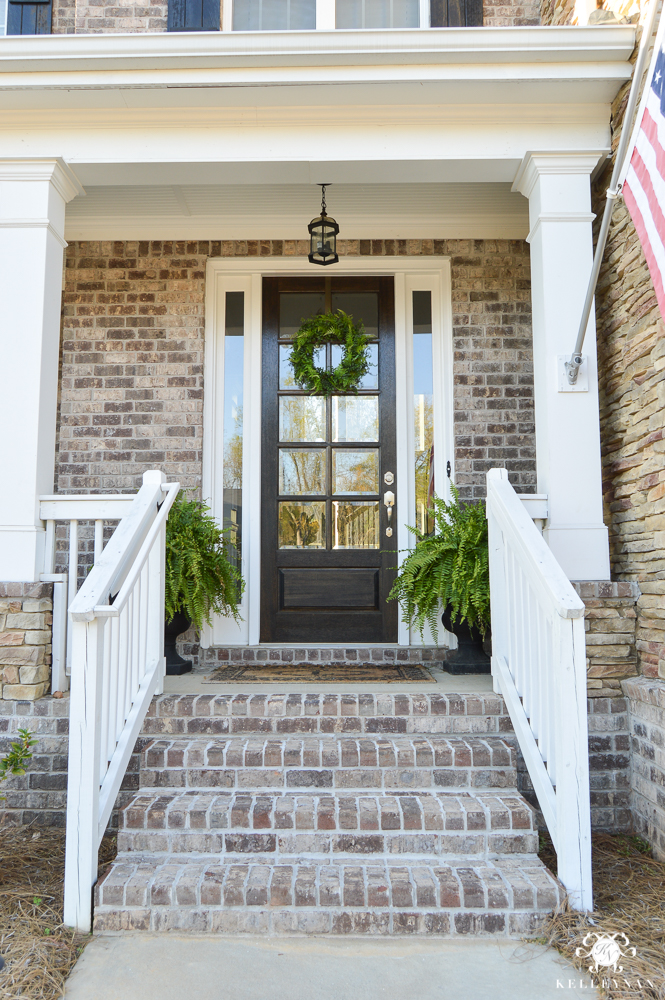 Spring in full swing a southern rocking chair front porch for Front porch designs with stone
