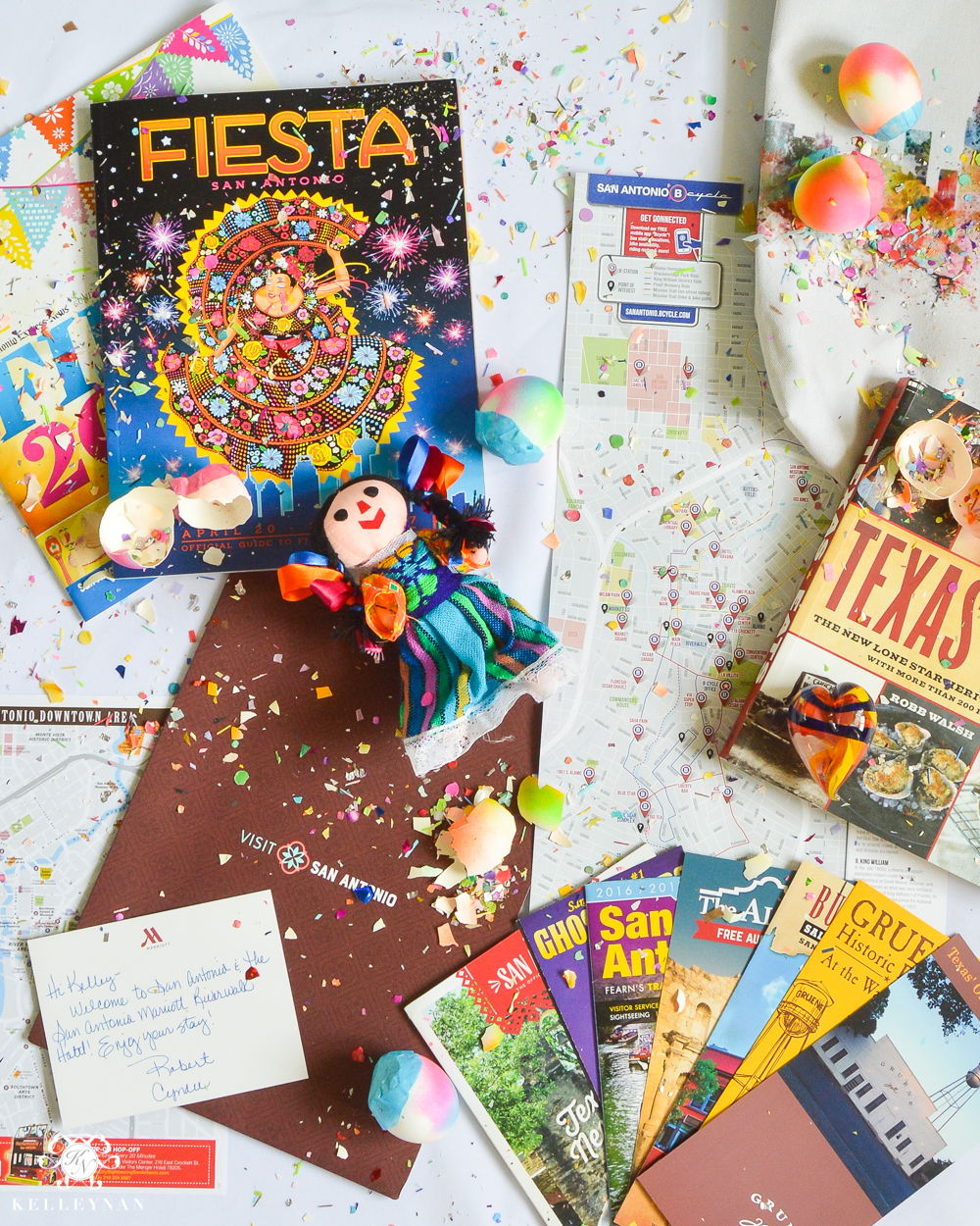 Texas Trip and San Antonio Fiesta Week-Cascarones and confetti