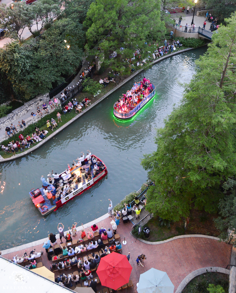 Texas Trip and San Antonio Fiesta Week-River Walk Boat Parade