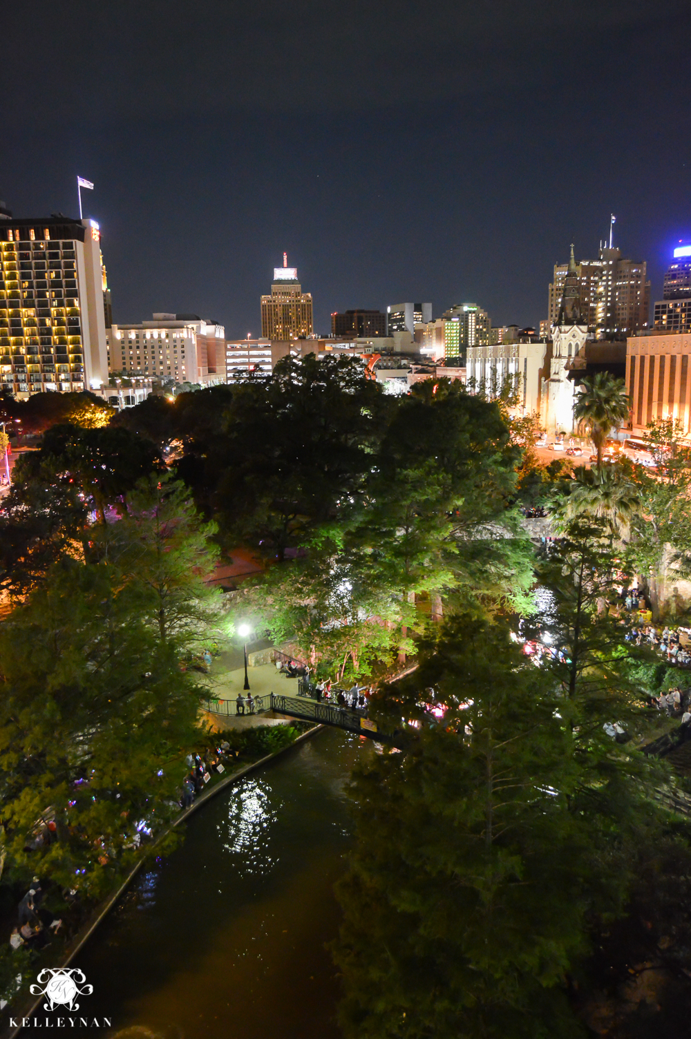 Texas Trip and San Antonio Fiesta Week-River Walk and City View from Marriott Balcony