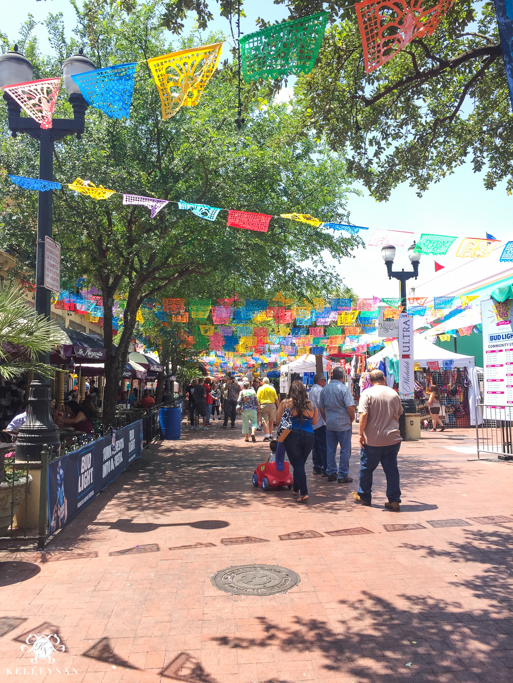 Texas Trip and San Antonio Fiesta Week-downtown market