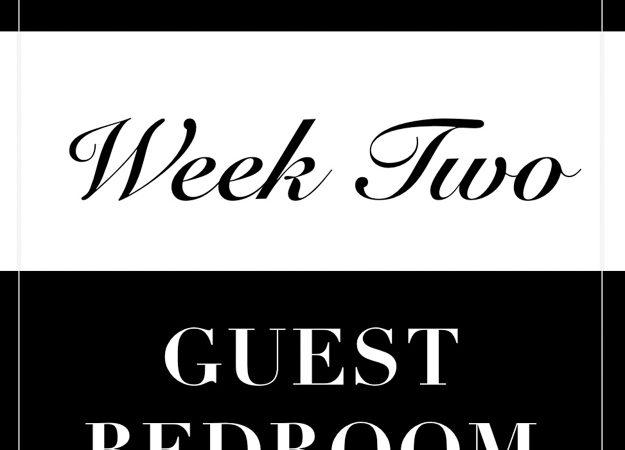 One Room Challenge- Week 2: Guest Bedroom Makeover