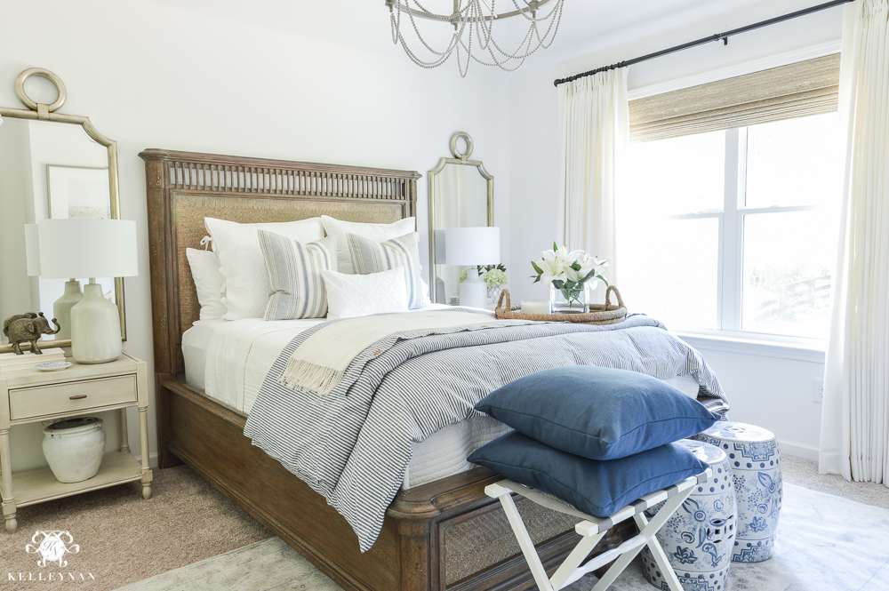 One Room Challenge- Classic Blue and White Guest Bedroom Reveal ...