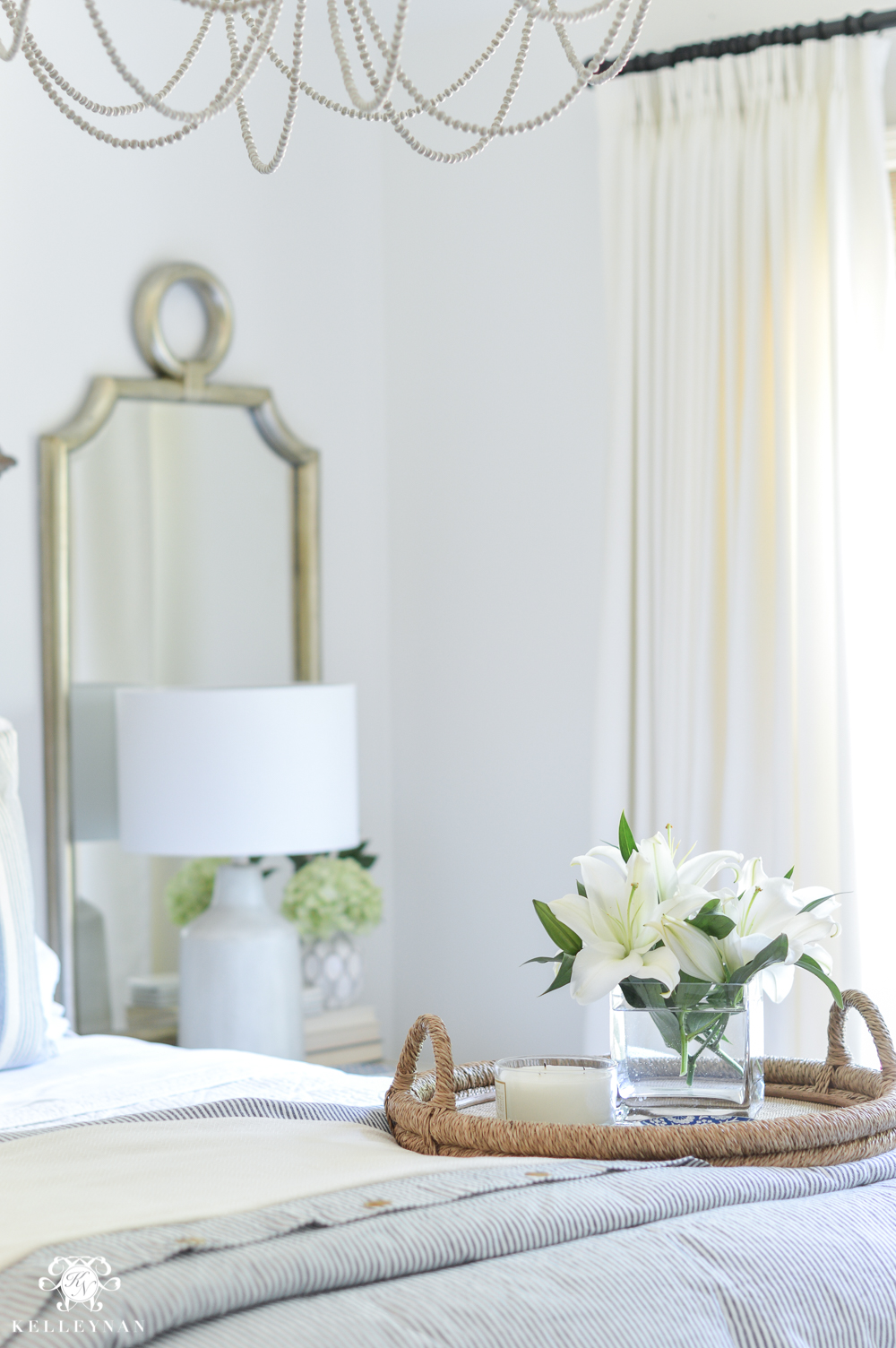 One room challenge classic blue and white guest bedroom - How to decorate apartment bedroom ...