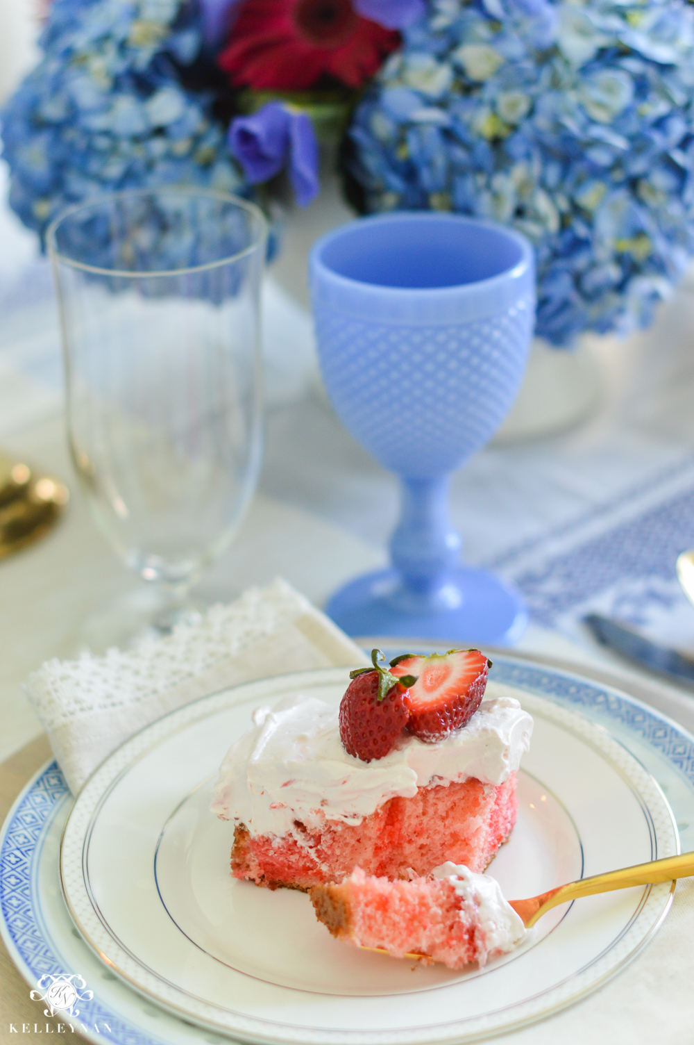 Quadruple strawberry cake- delicious and easy recipe